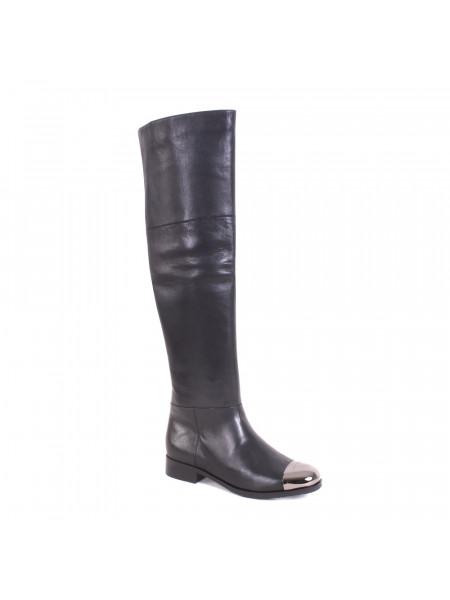 Ботфорты женские демисезонные на низком каблуке
