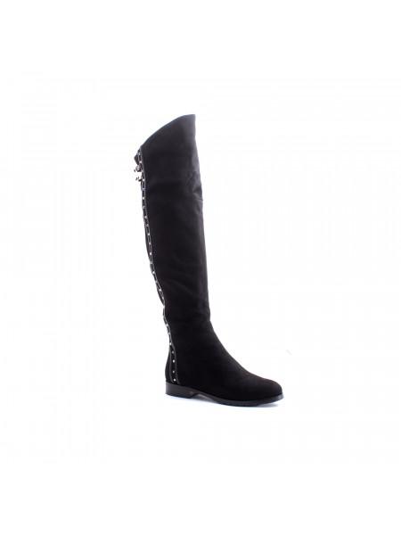 Ботфорты женские зимние на низком каблуке