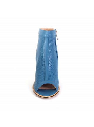 Ботинки женские летние на среднем каблуке