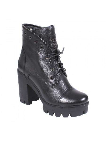 Ботинки женские зимние на высоком каблуке