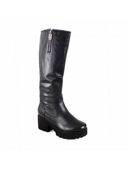 Сапоги женские зимние на среднем каблуке